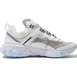 Cheap Burgundy Shoes For Woman Australia - TOP2019 Cheap React Element 87 Undercover Men Running Shoes For Women Designer Sports Mens Trainer Shoes Black Sail Light Bone Sneakers