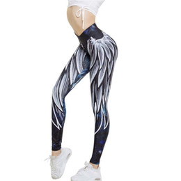 $enCountryForm.capitalKeyWord Australia - Womens Wing Printed Yoga Skinny Workout Leggings Fitness Sports Pants Women Spring Sexy Comfortable Summer High Waist Yoga Pants