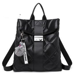 $enCountryForm.capitalKeyWord Canada - good quality New Backpack Women Travel Bag Leather School Rucksack Metal Button Solid Large Capacity Zaino Mochila Escolar Feminina