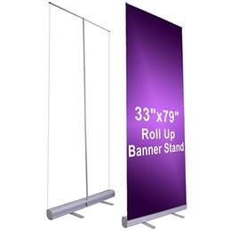 """Опт Оптовая 33 """"x79"""" Выдвижной Roll Up Баннер Стенд Дисплей Алюминиевый Знак Продвижение для Конференции и Выставки"""