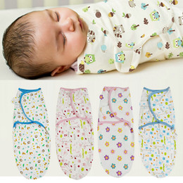 BaBy sleep towel online shopping - 11 colors Baby cartoon Printed cotton Sleeping Bags infant newborn swaddle wrap blanket kids toweling bath towels Swaddling Breathable