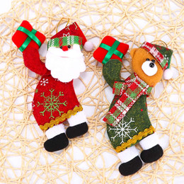 $enCountryForm.capitalKeyWord Australia - Santa Claus Snowman Tree Cloth Toy Doll Christmas Hang Decorations Christmas Supplies Merry Ornaments Gift