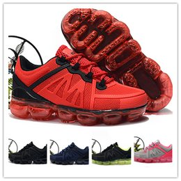 3639434f4 2019 Chaussures Moc 2 Laceless Boy girl youth drop plastic kids Children  Running Shoes Triple Black Sneakers Fly White knit Air cushion