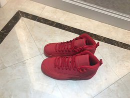 Bull Women Canada - Women Sneakers 12 Bulls Gym Red Black designer sports sneaker Fashion with box Womens Basketball trainers 130690-601