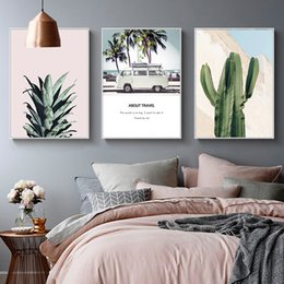 $enCountryForm.capitalKeyWord Australia - New Zealand Grassland Horses Cactus Bus Travel Canvas Painting Vintage Kraft Posters Coated Wall Stickers Home Decor Family Gift