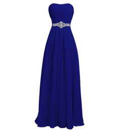 Blue Coral Beads Australia - Sweetheart Chiffon Long Bridesmaid Dresses with Beads Crystal 2019 Royal Blue Mint Wedding Guest Dress Lace Up Evening Gowns