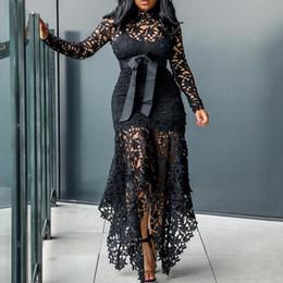 $enCountryForm.capitalKeyWord Australia - Vintage Party Sexy Black Lace Long Dress Plus Large Size M -xxxl 4xl Women Mesh Hollow Bodycon Blue African Maxi Dress Y19070901