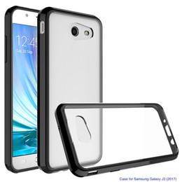 $enCountryForm.capitalKeyWord Australia - Acrylic+TPU Hard Transparent Cover Case for Samsung Galaxy A9 2018 J6 Prime J2 Core J260 J3 J1 J7 2016 Anti-scratch Clear Hybrid Shell
