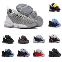 detailed look 2dfea 93658 New Arrival 2019 Mens Basketball Shoes Ash Grey 16 XVI Sports LeBRon 16s  Sneakers Wolf Grey For Cheap Sports Shoes