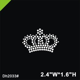 Iron Crystal Transfer Designs UK - Free shipping Mini crown iron on crystal transfer motif hot fix rhinestone motif hotfix stone design iron on for shirt, shoes ba DIY DH2033#