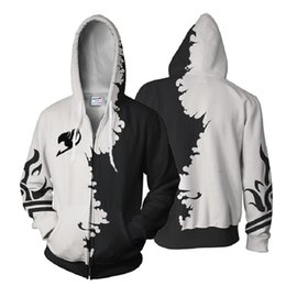 fairy tail prints Australia - BIANYILONG 2019 Autumn Winter 3D Printed Fairy Tail Hoodies Fairy Tail Gray Cosplay Zip Up HoodieJacket clothing