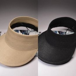 large brim hats for women Australia - Ozyc Hats Women Wide Large Brim Floppy Summer Beach Sun Hat Straw Hat Button Cap Summer Hats For Women Anti-uv Visor Cap Female D19011106