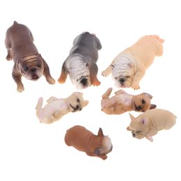 pet figures UK - 7Pcs Lifelike Bulldog Family Pet Model Figure, for Kids and Toddlers, Science Nature Educational Toy, Birthday Present