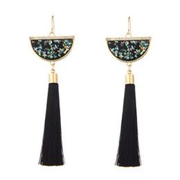 Woman Fans Australia - 20170629 Chinese Style Tassel Earrings Multicolored Shell Fan Shaped Fringe Ear Drop 6 Colors Good Quality Design Women Jewelry Melody