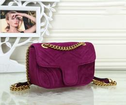 Luxury Chains Australia - Women Messenger Bags Luxury Handbags Women Bags Designer Velvet Fashion Shoulder Bag Women Handbags Chain G