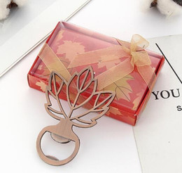 $enCountryForm.capitalKeyWord Australia - Copper Maple Leaf Beer Bottle Opener Bar Tool Wedding Favors Souvenirs Gifts Event Party Supplies for guests