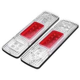 Discount trailer lights - 2Pcs 12V LED Warning Light Arrow 24V 6 LEDs Number Plate License Light Truck Trailer Boat Rear Tail Lights