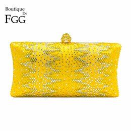 $enCountryForm.capitalKeyWord Australia - Boutique De Fgg Yellow Diamond Women Clutch Bags Wedding Minaudiere Handbags Crystal Evening Bag Bridal Party Dinner PursesMX190820
