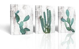 $enCountryForm.capitalKeyWord Australia - Canvas Prints Wall Decor Art Cactus Desert Plant with Spiny Flower Watercolor Hand Painted on Wooden Board Modern Nordic Style Painting Pict