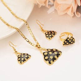 $enCountryForm.capitalKeyWord Australia - Fine Solid Gold Filled Black bilum house Pendant figaro chain bag purse earrings ring png Classics Cultural sets jewels