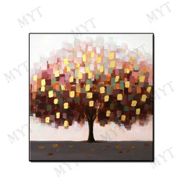 Decor Abstract Australia - Artwork modern oil painting abstract wall art home decor Hand-painted lucky tree landscape on canvas for living room bedroom no framed