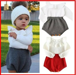 Cute Casual jumpsuits online shopping - 2019 Autumn winter Pompom Sweatshirts Cute Baby Girl Set Clothes Girls Jumpsuit Long Sleeve Lace Crochet Princess Party Tulle Tutu Dresses