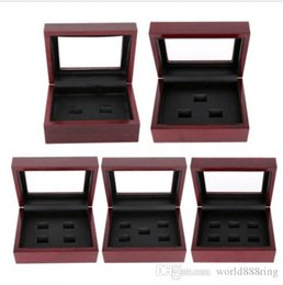 9a3aa6889ec07 Wooden Display Box for World Series Stanley Cup Championship Ring 2 3 4 5  6holes
