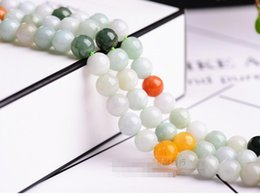 $enCountryForm.capitalKeyWord NZ - Wholesale 60 Pcs lot Natural Natural Jade Stone Beads for Fashion Jewelry Making Loose Gemstones 6 mm Free Shipping