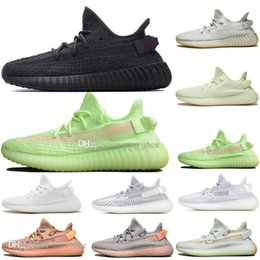 Discount kanye west shoes online shopping - Discount Kanye West Clay V2 Static Reflective Rainbow discoloration Mens Running Shoes Hyperspace True Form Women Men Sport Designer Sneaker