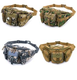 wholesale large bowls Australia - Camouflage Bag Men's Sports Outdoor Large Capacity Waterproof suitcase Tactical Pockets Riding Travel Running Multi-function Duffel Bag