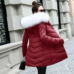 Woman S Parka Australia - 2018 New style Winter Jacket Women Coats Artificial collar Female Parka Thick Cotton Padded Lining Winter Coat Ladies S-3XXXL