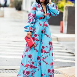 $enCountryForm.capitalKeyWord Australia - Summer Beach Boho Elegant Sexy Party African Black Girls Jumpsuit Women Slim Wide Legs Thin High Waist Floral Fall Female Romper