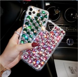 iphone6 diamond NZ - NEW 2020 FOR IPHONE6-11 PRO MAX 100%SILICONE SHINNY DIAMOND LUXURY DESIGN CASE FULL BODY PROTECTOR 4COLOURS FITTED CASE FREE SHIPPING