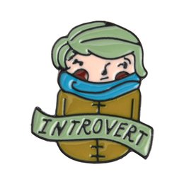Chinese  Introvert Pin Introvert's Brooches Lapel pins Badges Brooches Enamel pins Anti-People Person Jewelry manufacturers