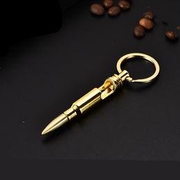 $enCountryForm.capitalKeyWord Australia - Bullet Bottle Openers Zinc Alloy Key Ring Pendant Bullet Model Beer Bottle Opener Keychains Bar Gadget Metal Kitchen Tools T2I5253