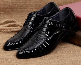 $enCountryForm.capitalKeyWord Australia - Summer cheap men's Business casual dress shoes crocodile skin Men oxfords groom shoes for men , Pointed Toe mens wedding party shoes