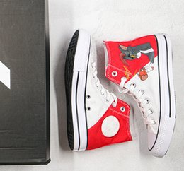 chucks shoes men NZ - 2020 Canvas Shoes Chuck 70 Tom and Jerry Red White Casual Men Women Shoes Canvas Designer Running Skateboard Shoes Sneakers 35-44