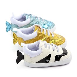First Strap NZ - Sequins Baby Shoes Fish Tail Cute Baby Girl Shoes Birthday Wedding Princess Shoes Soft Bottom First Walker Prewalkers
