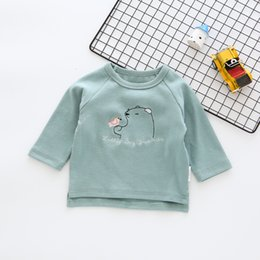 cropped tees Australia - crop top set baby girl Children T-shirt Boys Clothes coat Tees Cartoon Bear Print Kids Long Sleeve Sweatshirt Girls top T191014
