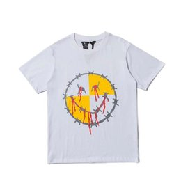 vlone tees NZ - Vlone 19SS Fashion Women Men T Shirts Hip Hop Streetwear Vlone Cotton Letter Printing Short Sleeve Big V Logo Women skateboard Tees