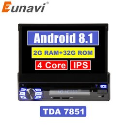 "$enCountryForm.capitalKeyWord Australia - Eunavi 2G RAM Single 1 Din 7"" Android 8.1 Car DVD Player GPS Radio Stereo Universal 1024*600 Hd Head Unit With Wifi Touch Screen"