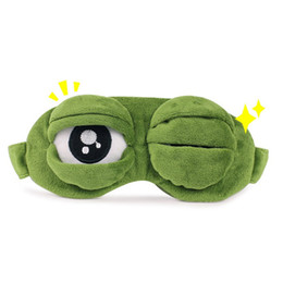 child sleep mask Australia - Novelty Supplies Eye To Gift Girlfriend Sad Toad 3D Green Sad Toad Soft Sleeping Funny Cosplay Toy Home Party Cosplay Decor Mask Qaopb