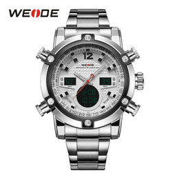 Wholesale WEIDE Famous Brand Multifunction Sport Men Watch Analog Digital Waterproof Stainless Steel Dual Time Complete Calendar Watches
