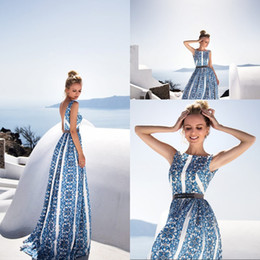 Discount simple prints - Cheap Printed Square Neck Sleeveless Long Chiffon Women Bohemia Party Dresses Sexy Backless Simple Fashion Women Casual