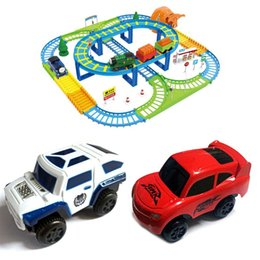 Wholesale Electronic Rail Track Car Gift for Children Kids Battery Power Educational Toy