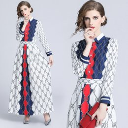 $enCountryForm.capitalKeyWord Australia - shot spot Europe and the United States fashion foreign trade trend women's 2018 new product waist was thin positioning print dress