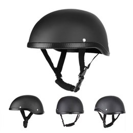 windproof motorcycle helmets Australia - Summer Vintage Motorcycle Riding Half Helmet Open Face Windproof Unisex Simple Design Motorbike Chopper Biker Pilot