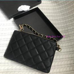 20X13X2CM Luxo Coin treliça saco de moda diamante organizador bolsa caso com suporte de cartão incluindo presente caixa C dama da moda hardware em Promoção
