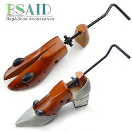 Woods Shoes Australia - Bsaid 1 Pc Unisex 2-way Adjustable Wooden Stretcher Expander For Men Tree Women High Heel Wood Shoe Rack Holder Q190617