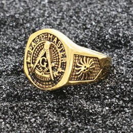 $enCountryForm.capitalKeyWord NZ - Factory Wholesale Male New Stainless Steel Masonic Ring for Men Freemason Symbol G Templar Freemasonry Men Rings